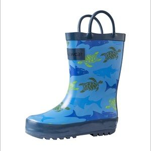 Other - 💦💥🦈 OAKI SHARK AND SEATURTLE RAINBOOTS! 🦈💥💦